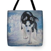 Siberian Husky Run Tote Bag by Lee Ann Shepard
