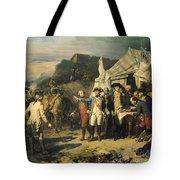 Siege Of Yorktown Tote Bag by Louis Charles Auguste  Couder