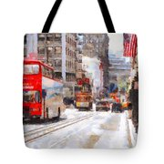 Sightseeing Along Powell Street In San Francisco California . 7d7269 Tote Bag by Wingsdomain Art and Photography