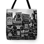 Sign Post Forest Tote Bag by Juergen Weiss