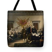 Signing The Declaration Of Independance Tote Bag by War Is Hell Store