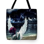 Silence Of An Angel Tote Bag by Mo T