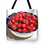 Simply a Bowl of Cherries Tote Bag by Carol Groenen