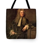 Sir Isaac Newton  Tote Bag by Sir Godfrey Kneller