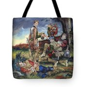 Sir Philip Sidney At The Battle Of Zutphen Tote Bag by Ron Embleton
