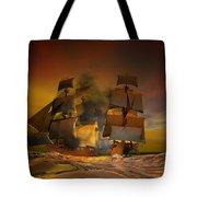 Skirmish Tote Bag by Carol and Mike Werner