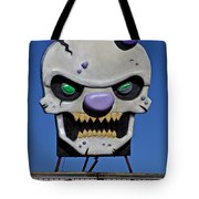 Skull Fun House Sign Tote Bag by Garry Gay