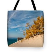 Sleeping Bear Overlook Tote Bag by Larry Carr