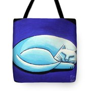Sleeping Cat Tote Bag by Genevieve Esson
