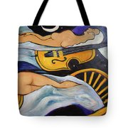 Sleeping Cellists Tote Bag by Valerie Vescovi