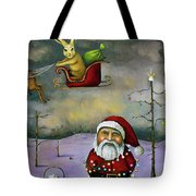 Sleigh Jacker Tote Bag by Leah Saulnier The Painting Maniac