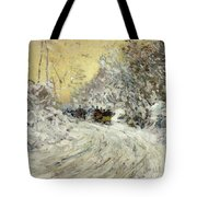 Sleigh Ride In Central Park Tote Bag by Childe Hassam