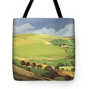 Small Green Valley Tote Bag by Anna Teasdale