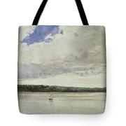 Small Sloop On Saco Bay Tote Bag by Winslow Homer
