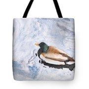 Snake Lake Duck Sketch Tote Bag by Ken Powers