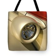 Snazzy Headlamp On Antique Car Tote Bag by Douglas Barnett