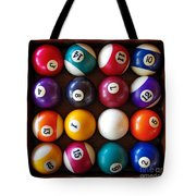 Snooker Balls Tote Bag by Carlos Caetano