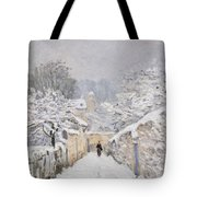 Snow At Louveciennes Tote Bag by Alfred Sisley
