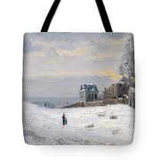 Snow At Montmartre Tote Bag by Hippolyte Camille Delpy