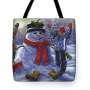 Snow Day Tote Bag by Richard De Wolfe