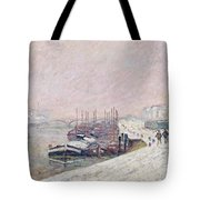 Snow in Rouen Tote Bag by Jean Baptiste Armand Guillaumin
