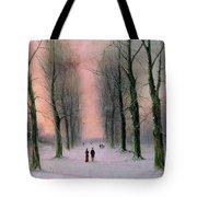 Snow Scene Wanstead Park   Tote Bag by Nils Hans Christiansen
