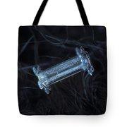 Snowflake Photo - Capped Column Tote Bag by Alexey Kljatov
