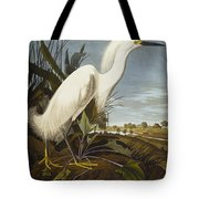 Snowy Heron Tote Bag by John James Audubon