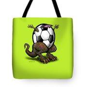 Soccer Saurus Rex Tote Bag by Kevin Middleton