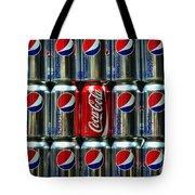 Soda - Coke Vs. Pepsi Tote Bag by Paul Ward