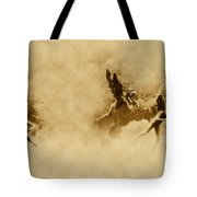 Song Of The Angels In Sepia Tote Bag by Bill Cannon