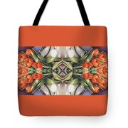 Soul Plexus - Tulips With Pearl Chakras Tote Bag by Amy S Turner