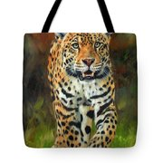 South American Jaguar Tote Bag by David Stribbling