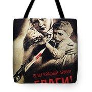 SOVIET POSTER, 1942 Tote Bag by Granger