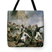Spanish Uprising Against Napoleon In Spain Tote Bag by Joaquin Sorolla y Bastida