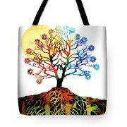Spiritual Art - Tree Of Life Tote Bag by Sharon Cummings