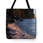 Split Rock Lighthouse At Dawn Tote Bag by Larry Ricker