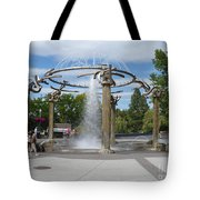 Spokane Fountain Tote Bag by Carol Groenen