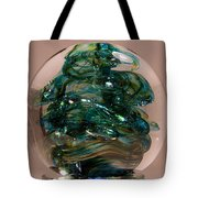 Spot Of Teal Tote Bag by David Patterson