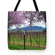 Spring Blossoms Near Calistoga Tote Bag by Charlene Mitchell