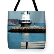 Spring Point Ledge Lighthouse Tote Bag by Greg Fortier