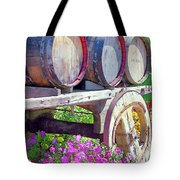 Springtime at V Sattui Winery St Helena California Tote Bag by Michelle Wiarda