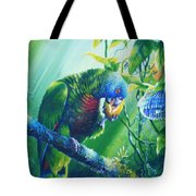 St. Lucia Parrot And Wild Passionfruit Tote Bag by Christopher Cox