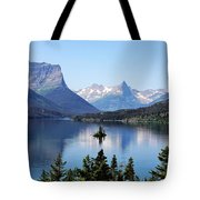 St Mary Lake - Glacier National Park Mt Tote Bag by Christine Till