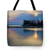 St. Michael's Sunrise Tote Bag by Bill Cannon