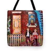 St. Urbain Street Boys Tote Bag by Carole Spandau