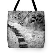 Stairways To The Kiva Tote Bag by Sandra Bronstein