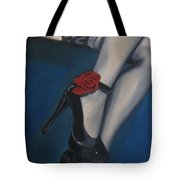 Stalking Rose Tote Bag by Jindra Noewi