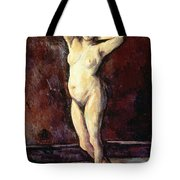 Standing Nude Woman Tote Bag by Cezanne
