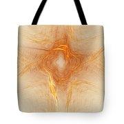 Star In Abstract Tote Bag by Deborah Benoit